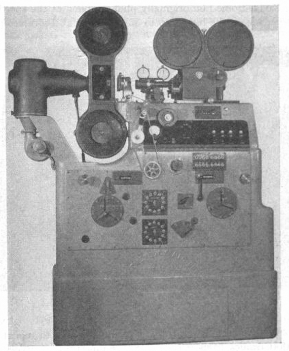 The Acme-Dunn was the world's first mass-produced optical printer. Photograph: The Cine-Technician, May/June 1944.