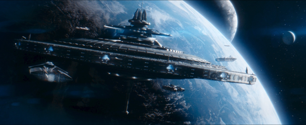 Cole started his mission on board the space station Valley Forge, as revealed in episode four of ATROPA: The Series. The Light Works fashioned fully digital wide shots of the orbital platform.