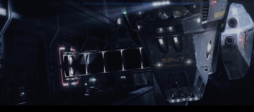 Off-world detective Cole Freeman (Tony Bonaventura) docks his shuttle Morinda with a mysterious spaceship called ATROPA.