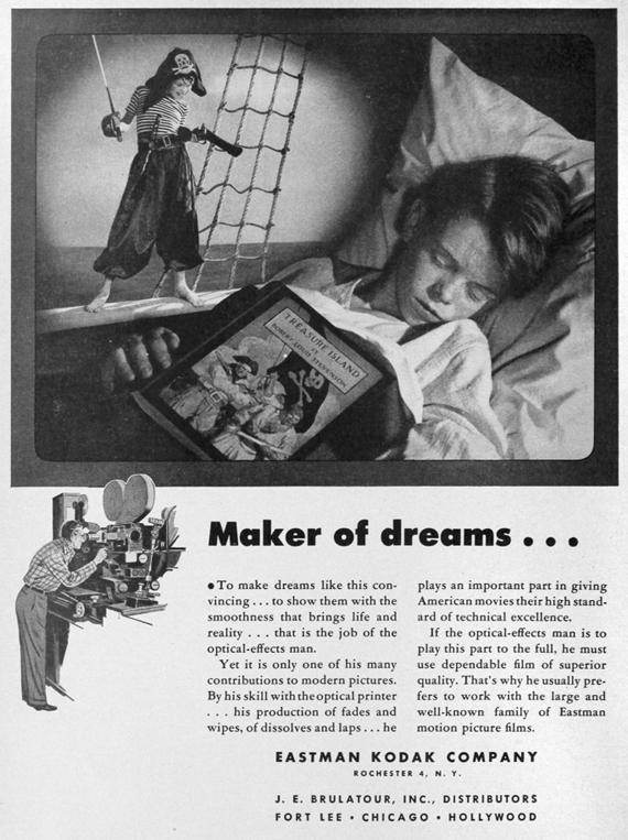 Eastman-Kodak trade advertisement from 1947.
