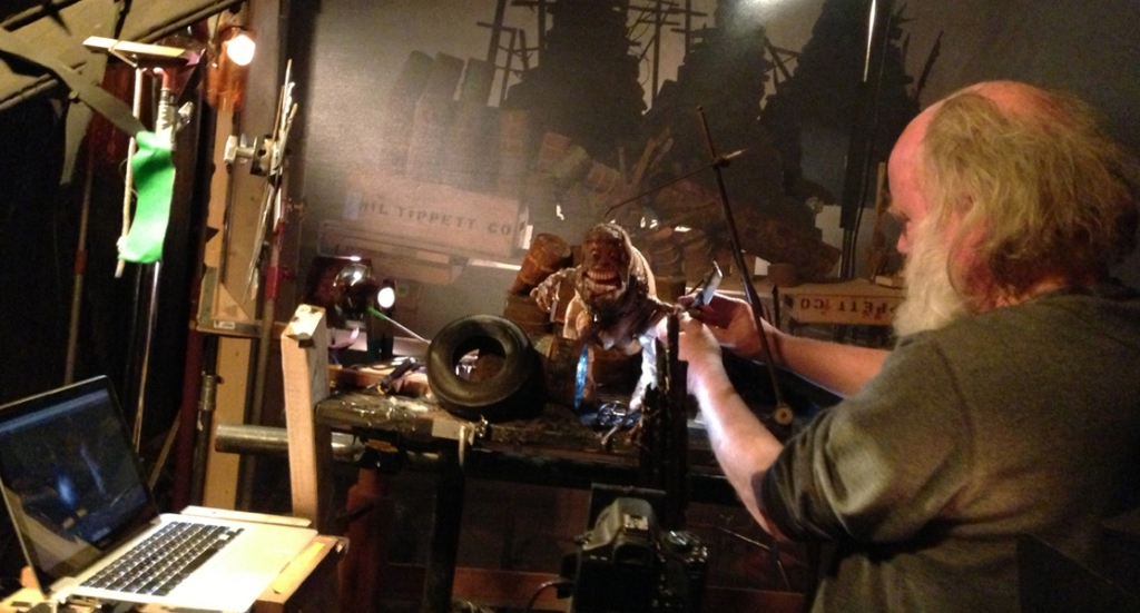 """Phil Tippett animates a shot for """"Mad God."""""""