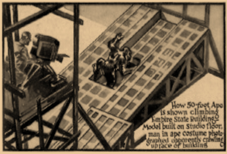 """""""How King Kong Was Filmed"""" (or not) - Screen Book, 1933"""