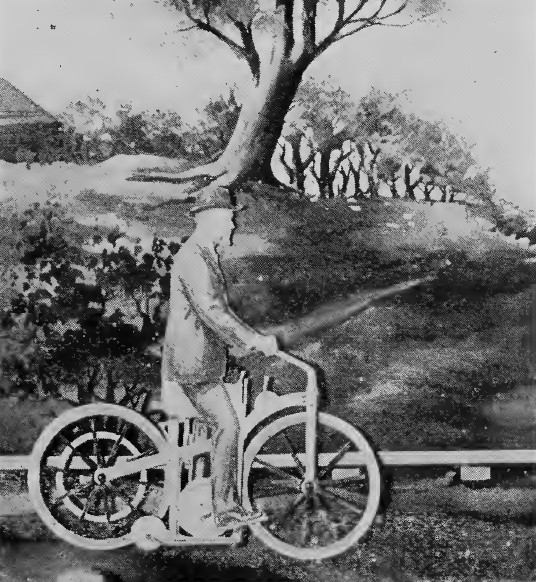 """Mechanigraph of a Daimer motorcycle from """"The Porcelain Lamp."""""""