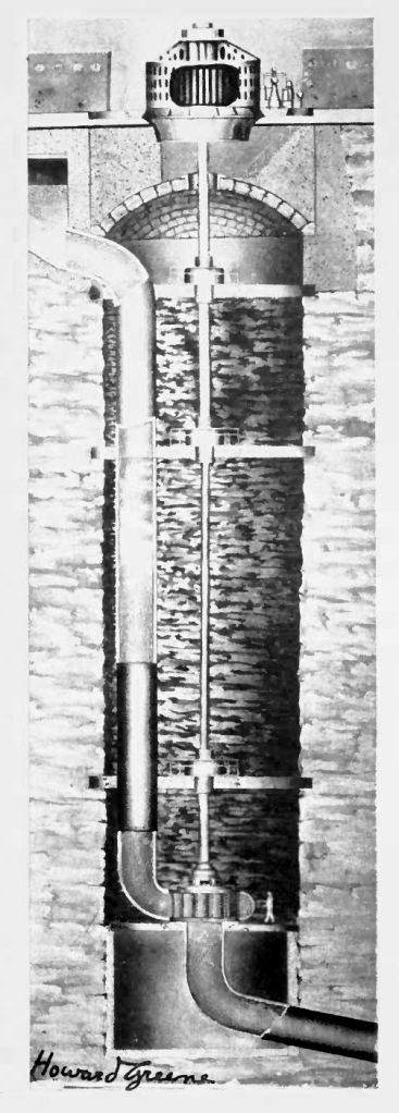 """Mechanigraph used in """"White Coal – The Fuel of the Future,"""" made for Westinghouse Electric Co. by the Harry Levey Service Corporation. Nearly five feet high, the model was animated using over 4,000 exposures."""