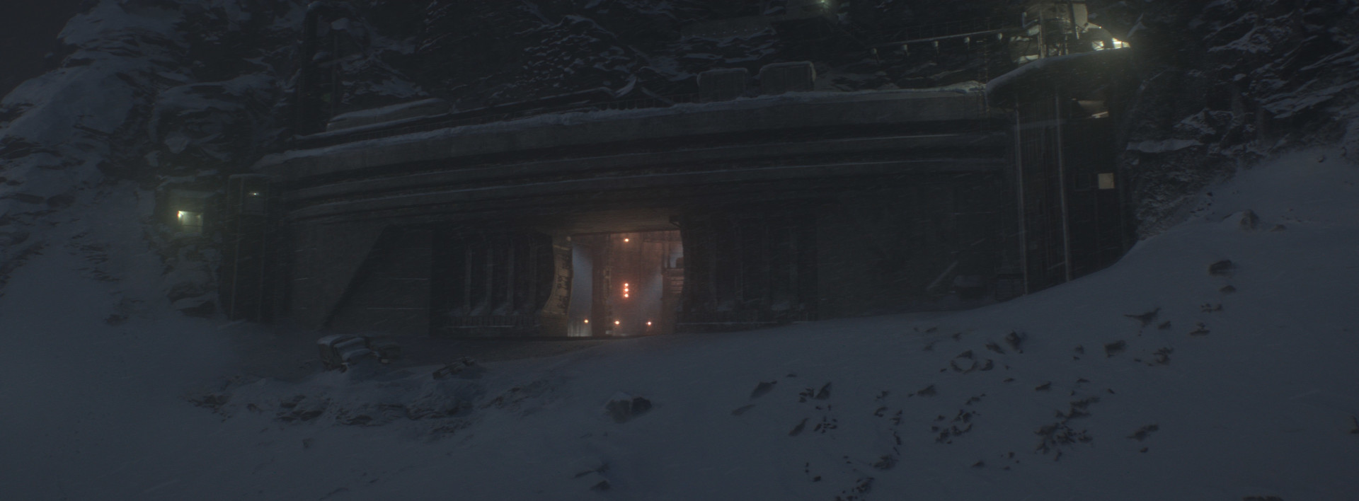 The entrance to Opal's bunker clings to a remote mountainside. Image courtesy of RISE.