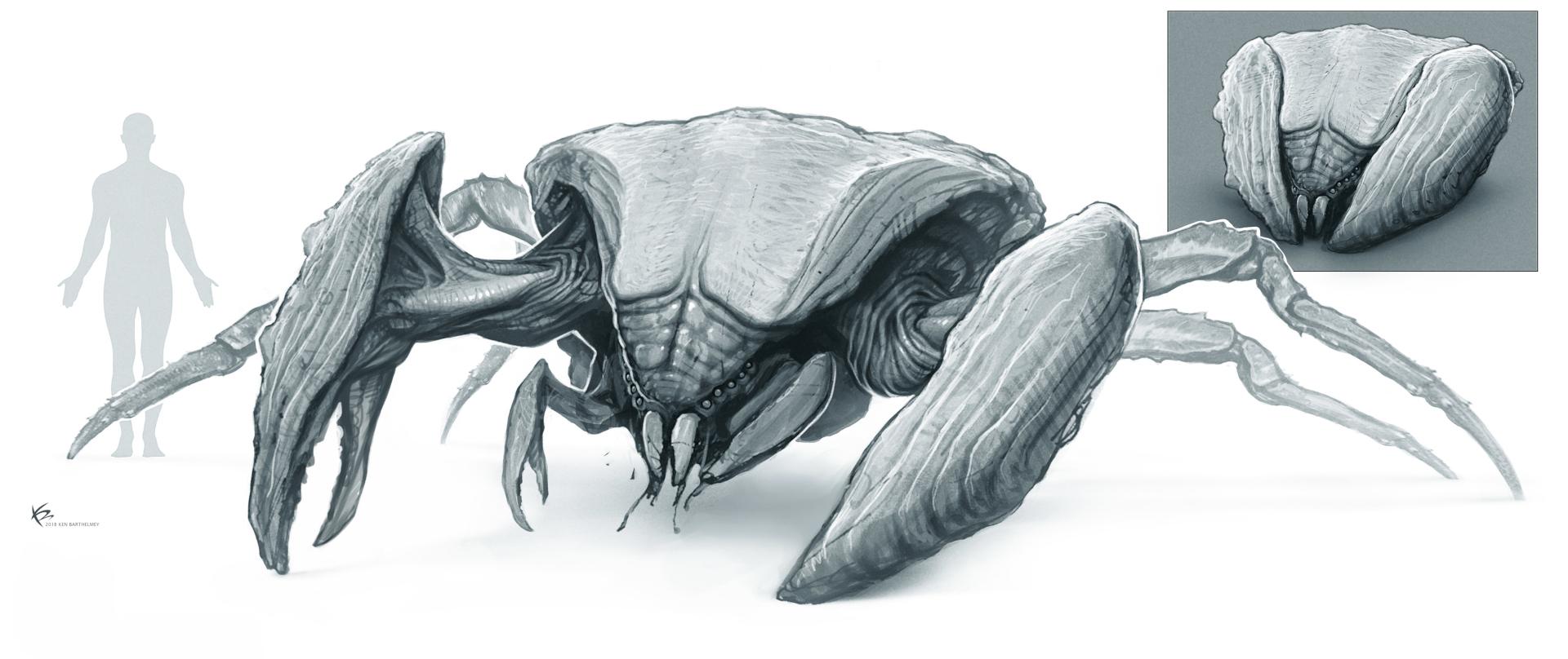 Godzilla vs Kong - Hollow Earth creature design by ADI